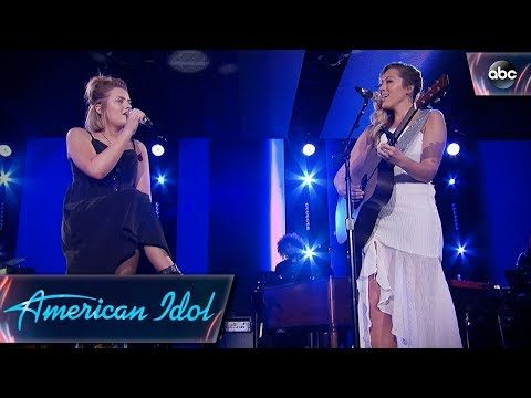 """Maddie Poppe & Colbie Cailatt Sing """"Bubbly"""" – Top 24 Duets – American Idol 2018 on ABC"""