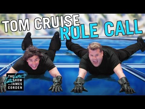 Tom Cruise James Corde Acts Out His Film Career